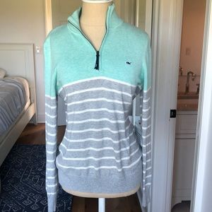 Vineyard Vines Women's Quarter Zip Sweater Small